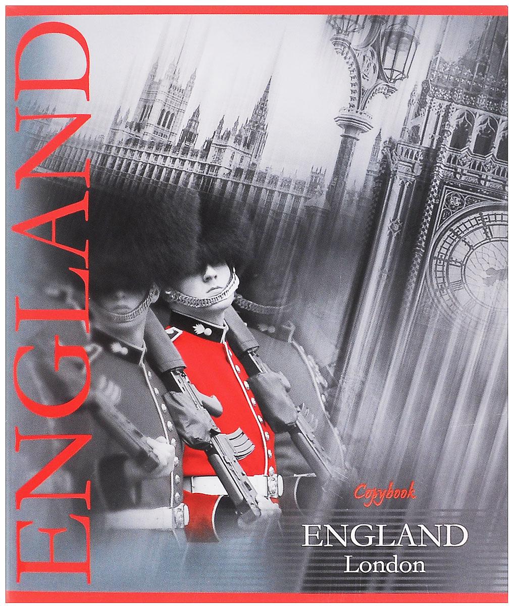 Полиграфика Тетрадь Лондон. Королевский гвардеец, 60 листов, формат А537596_солдатТетрадь Полиграфика Лондон. Королевский гвардеец подойдет как студенту, так и школьнику. На обложке изображены королевские гвардейцы на фоне исторических зданий Лондона. Внутренний блок тетради состоит из 60 листов белой бумаги. Страницы размечены стандартной линовкой в голубую клетку и дополнены полями, совпадающими с лицевой и оборотной стороны листа. Края тетрадей закруглены.