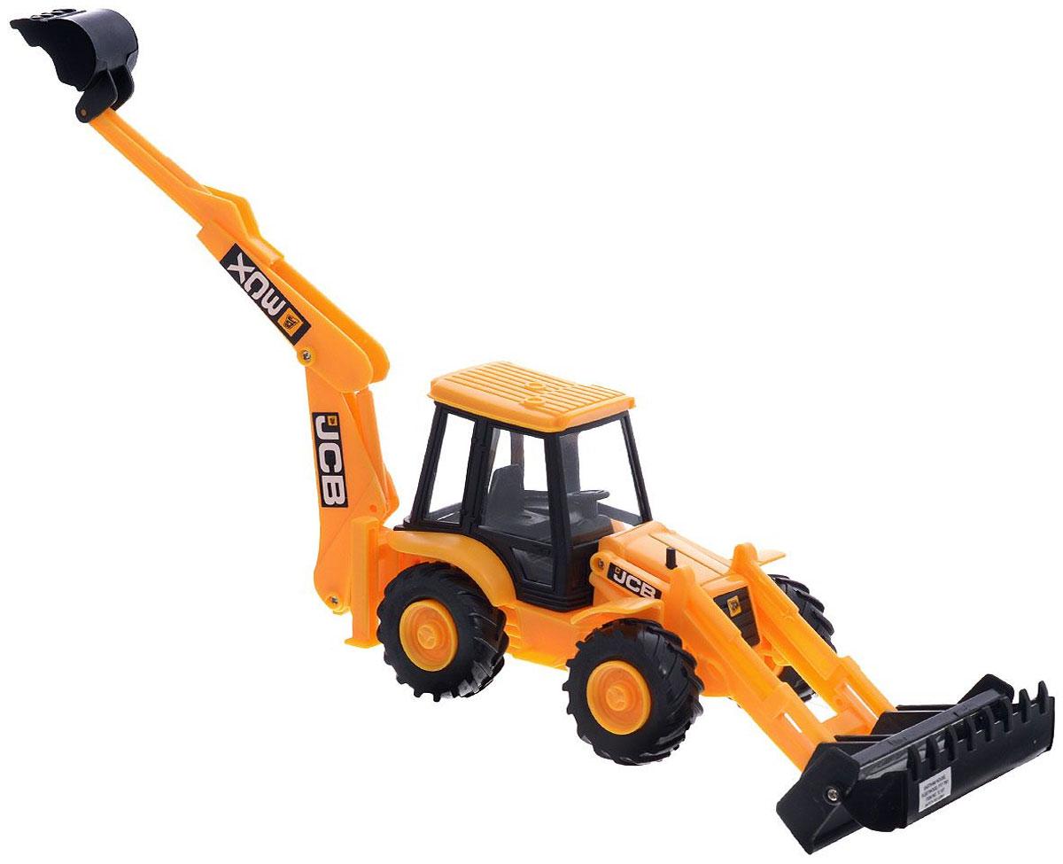 HTI Экскаватор-погрузчик JCBJCB009.V15Экскаватор-погрузчик HTI JCB, изготовленный из прочного безопасного материала, отлично подойдет ребенку для различных игр. Экскаватор оснащен двумя подвижными ковшами, с помощью которых можно перемещать материалы (камушки, песок, веточки), убирать строительный мусор или расчищать площадку. Большие колеса с крупным протектором обеспечивают экскаватору устойчивость и хорошую проходимость. Ваш юный строитель сможет прекрасно провести время дома или на улице, воспроизводя свою стройку.