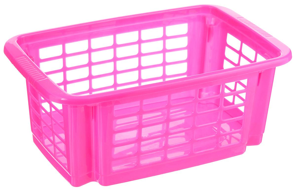 Корзина для хранения Dunya Plastik Стакер, цвет: ярко-розовый, 31 х 20 х 12,5 см5506_розовыйКлассическая корзина Dunya Plastik Стакер, изготовленная из пластика, предназначена для хранения мелочей в ванной, на кухне, даче или гараже. Позволяет хранить мелкие вещи, исключая возможность их потери. Это легкая корзина со сплошным дном, жесткой кромкой, с небольшими отверстиями на стенках. Корзина имеет специальные выемки внизу и вверху, позволяющие устанавливать корзины друг на друга.