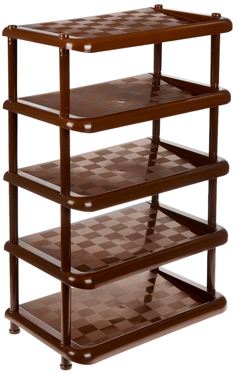 Этажерка для обуви «Idea», 5-ти секционная, цвет: коричневый, 49,7 х 30,7 х 83,7 см  мебель в дар стенки диваны кровати