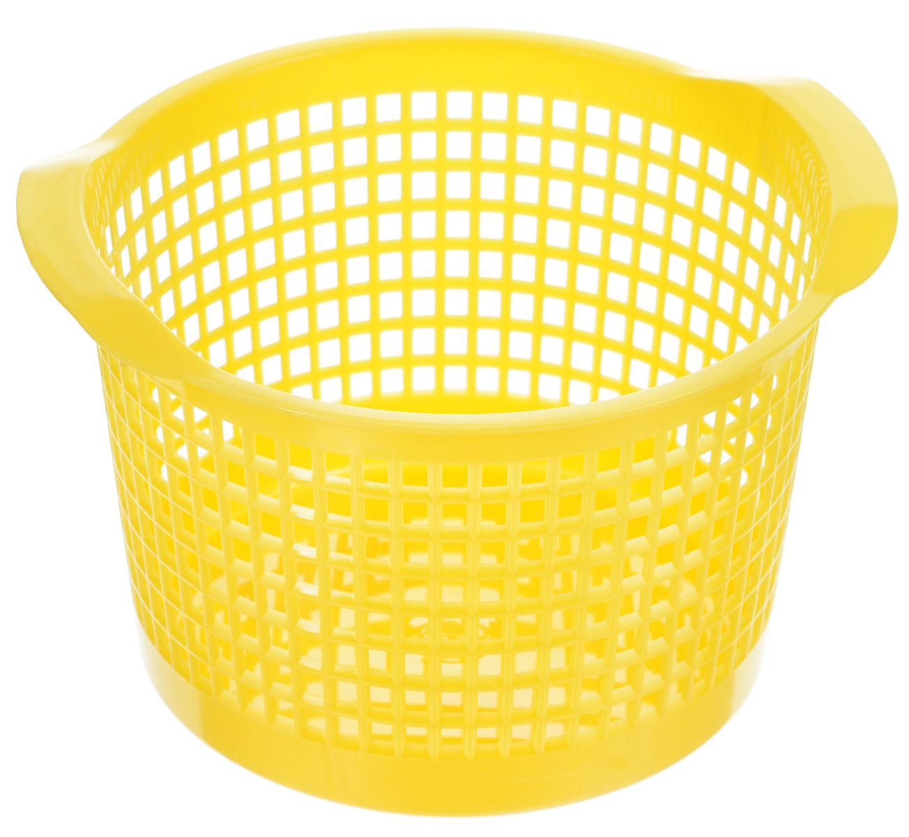 Корзинка универсальная Econova, цвет: желтый, 18,7 х 17 х 11,5 смС12242_желтыйУниверсальная корзинка Econova изготовлена из высококачественного пластика с перфорированными стенками и сплошным дном. Такая корзинка непременно пригодится в быту, в ней можно хранить кухонные принадлежности, аксессуары для ванной и другие бытовые предметы, диски и канцелярию. Корзинка Econova позволит вам хранить вещи компактно и с удобством.