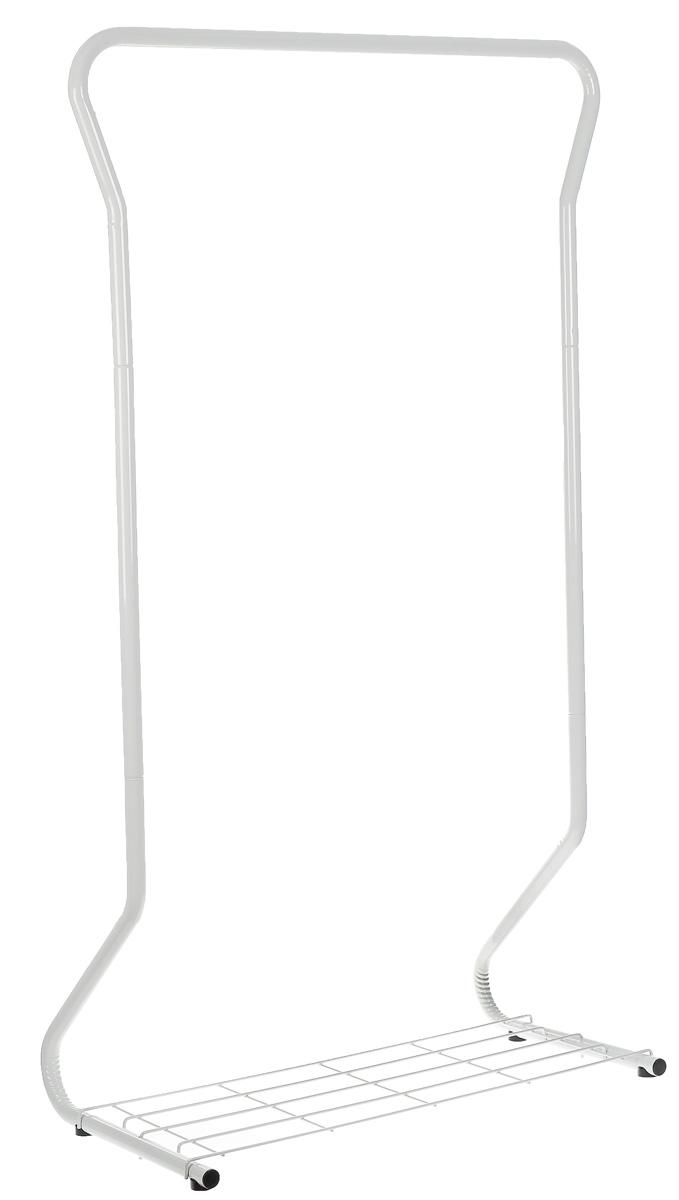Вешалка гардеробная Sheffilton, цвет: черный, серый 88 см х 46 см х 164 см820678_черный, серыйМногофункциональная гардеробная вешалка Sheffilton - отличное решение для хранения вещей. Вешалка оснащена полкой для обуви и штангой для вешалок-плечиков. Изделие выполнено из металлической трубы, покрытой порошковой краской, и пластиковой фурнитуры. Порошковая окраска изделия, стойкая к механическим повреждениям. Максимальная нагрузка на штангу 25 кг. Размер вешалки: 88 см х 46 см х 164 см.