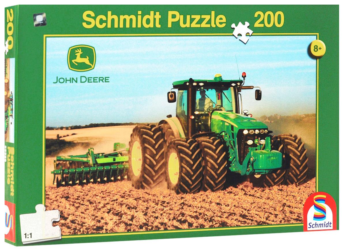 Schmidt Трактор John Deere 8270R. Пазл, 200 элементов55526Пазл Schmidt Трактор 8270R непременно придется вам по душе. Собрав этот пазл, включающий в себя 200 элементов, вы получите красочную картинку с изображением сельскохозяйственного трактора John Deere. Пазл - великолепная игра для семейного досуга. Сегодня собирание пазлов стало особенно популярным, главным образом, благодаря своей многообразной тематике, способной удовлетворить самый взыскательный вкус. А для детей это не только интересно, но и полезно. Собирание пазла развивает мелкую моторику рук у ребенка, тренирует наблюдательность, логическое мышление, знакомит с окружающим миром, с цветом и разнообразными формами.