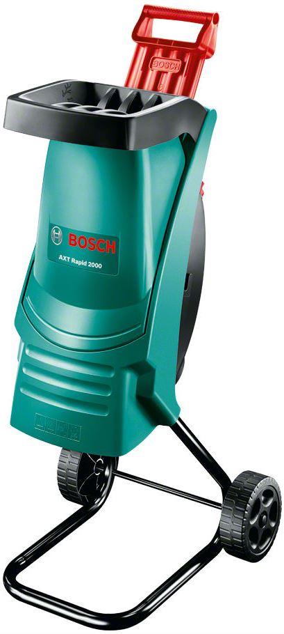 Садовый измельчитель Bosch AXT 2000 RapidAXT 2000 RapidСадовый измельчитель мусора Bosch AXT 2000 RAPID - прекрасный помощник для наведения порядка на участке. Листья, сучки, остатки корней легко утилизируются, либо могут послужить в измельченном виде удобрением для грядок. Данную модель отличает современный дизайн воронки со встроенным толкателем, заметно увеличивающие скорость работы. Садовый измельчитель AXT Rapid 2000 отличается компактностью и производительностью. Оснащенный режущей системой ножевых измельчителей, он способен обрабатывать до 80 кг веток в час. Высококачественные лезвия - долговечные, изготовленные по лазерной технологии точные ножи с высокой производительностью резки. Отлично подходит для обработки мягкого садового материала. Малый вес, удобная ручка и колесики делают AXT Rapid 2000 маневренным и мобильным. Режущая система ножевых измельчителей Долговечный, изготовленный по лазерной технологии точный нож с высокой производительностью резки. Высокая производительность ...