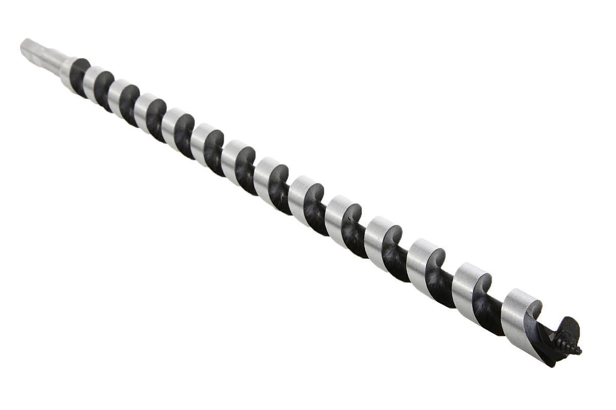 Сверло по дереву Hammerflex, винтовое, диаметр 18 мм32409Винтовое сверло-спираль Левиса Hammerflex предназначено для твердой и мягкой древесины. Используется для засверливания больших балок, брусьев и бревен. Спиральное центрирующее острие для быстрого захода в материал. Спиральная форма шнека позволяет быстро и эффективно выводить стружку даже при сверлении влажной древесины. Шестигранный хвостовик обеспечивает надежный зажим в патроне без проскальзывания сверла. Длина рабочей части: 400 мм.