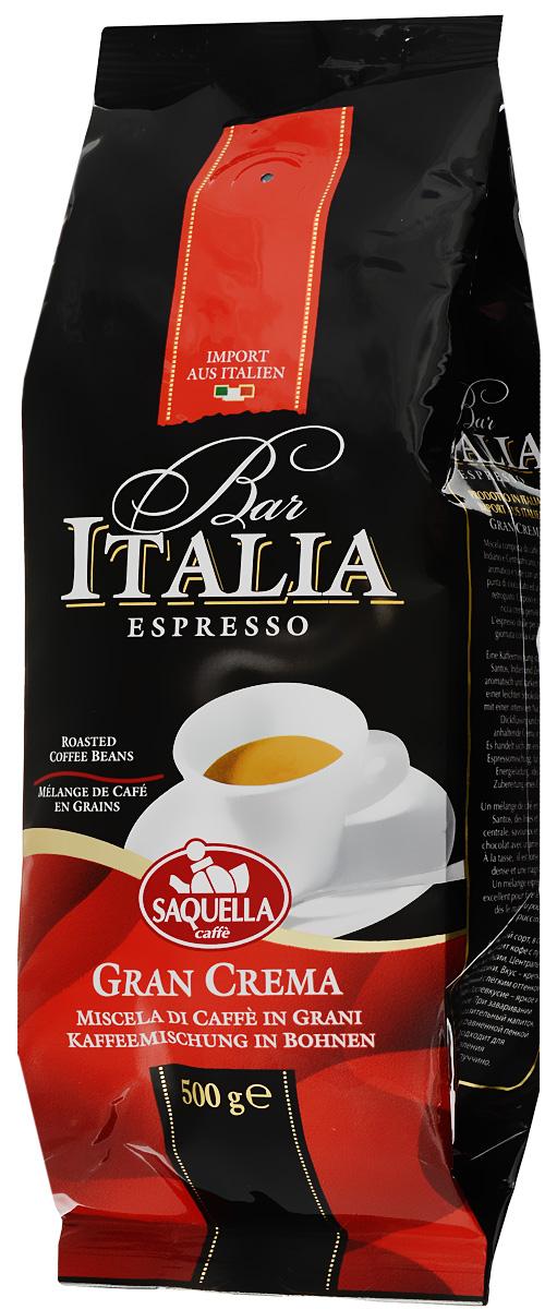 Saquella Bar Italia Gran Crema кофе в зернах, 500 г 8002650000807
