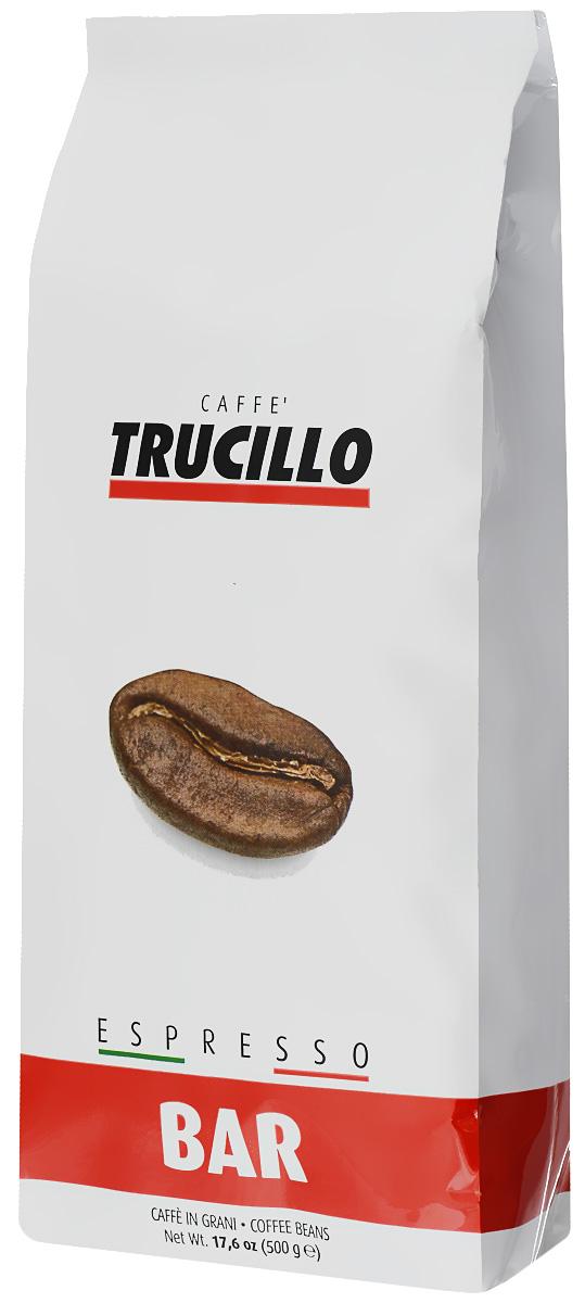 Trucillo Espresso Bar кофе в зернах, 500 г8004715012008Trucillo Espresso Bar - филигранно подобранная смесь лучшей арабики и робусты высочайшего качества. Яркий и насыщенный вкус, сочетающий мягкие нотки арабики и полновесные нотки робусты. Бодрящий итальянский эспрессо с незабываемым вкусом и ароматом.