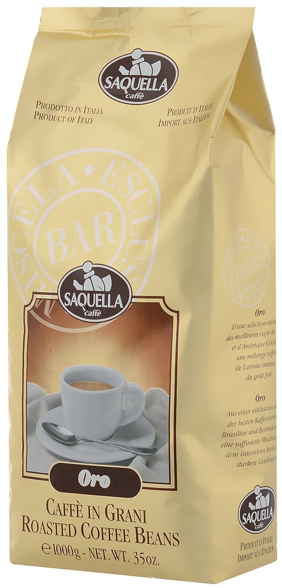 Saquella Oro кофе в зернах, 1000 г8002650000340Saquella Oro - изысканная комбинация лучших сортов арабики и робусты с экзотического острова Ява позволяет получить очень яркий букет вкуса. Высокая плотность, умеренная терпкость и стойкий интенсивный аромат удачно гармонируют с низким содержанием кофеина. Сорт станет идеальным дополнением к романтическому вечеру.
