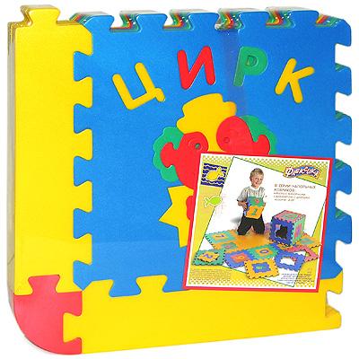 Флексика Коврик-пазл Цирк, 6 элементов45447Коврик-пазл Флексика Цирк обязательно понравится каждому ребенку. Он состоит из шести квадратов, способных соединяться между собой как паззл. Квадраты в свою очередь тоже состоят из нескольких деталей. Из деталей коврика можно складывать и плоские, и объемные конструкции (кубы, башни и т.д.) Помимо игрового и обучающего эта игрушка имеет и практическое значение. Детали коврика выполнены из экологически чистого мягкого полимерного материала, обладающего теплоизоляционными свойствами. Это обеспечивает комфорт и удобство в использовании в виде напольного покрытия в детской и ванной комнате или даже на пляже. Мозаика настолько универсальна и практична, что с ней можно играть практически везде. Преимущество предлагаемой мозаики перед другими игрушками заключается в том, что она обучает ребенка, способствует развитию у него мелкой моторики, образного и логического мышления, наблюдательности.