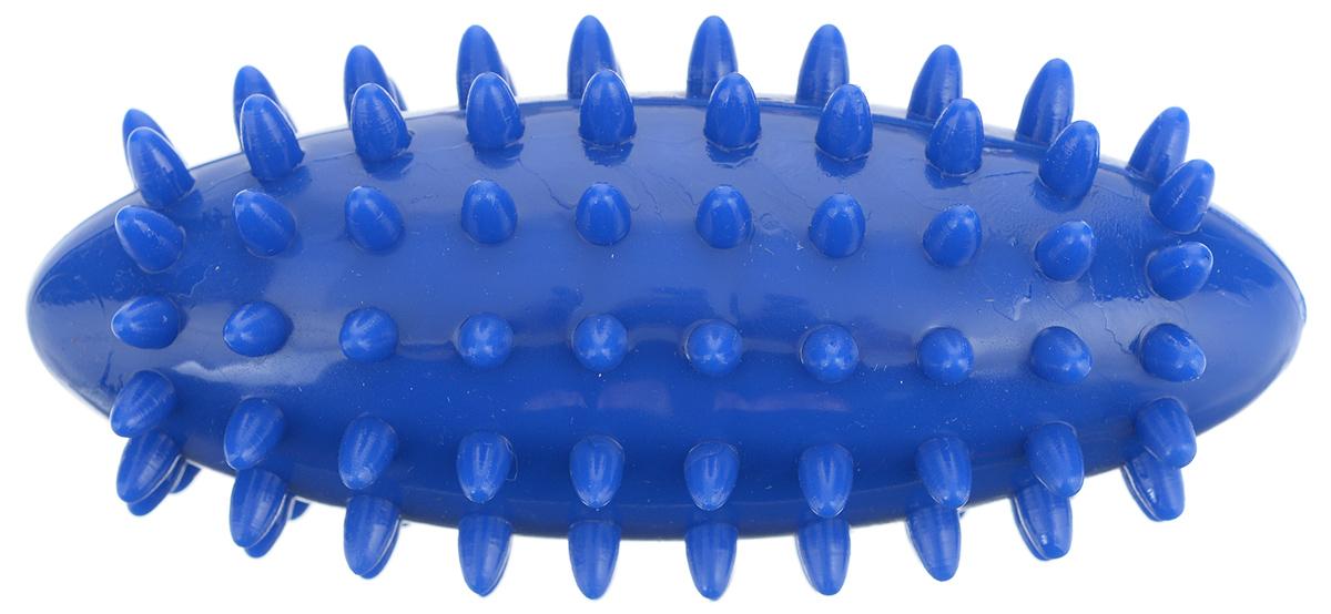 Игрушка для собак V.I.Pet Массажный мяч. Регби, цвет: синий, 11,5 см х 5 см09002Игрушка для собак V.I.Pet Массажный мяч. Регби, изготовленная из ПВХ, предназначена для массажа и самомассажа рефлексогенных зон. Она имеет мягкие закругленные массажные шипы, эффективно массирующие и не травмирующие кожу. Игрушка не позволит скучать вашему питомцу ни дома, ни на улице.
