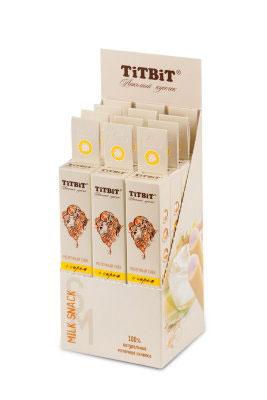 Лакомство для мелких собак Titbit, молочный снек с сыром4548Молочный снек с сыром - это вкусное и полезное лакомство для собак. Натуральная сырная начинка придает снеку непревзойденный вкус и аромат, а благодаря специально разработанной текстуре, снек эффективно удаляет мягкий зубной налет. Состав: Рис, сыр 30%, клетчатка, лецитин, минеральный комплекс, натуральные ароматизаторы, натуральные красители, витамины А, В6, D3, С