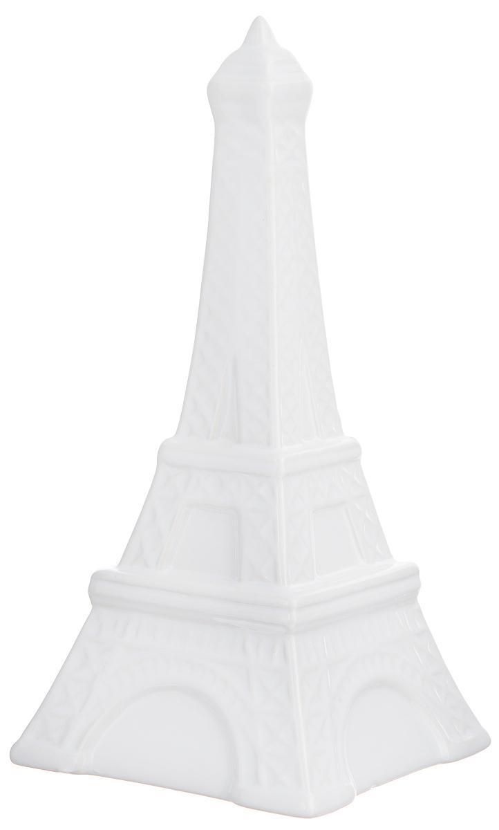 Копилка декоративная Феникс-презент Эйфелева башня, цвет: белый, 10,3 х 10,3 х 21 см39525Декоративная копилка Феникс-презент Эйфелева башня изготовлена из доломитовой керамики. Сверху имеется прорезь для монет. На дне расположен клапан, через который можно достать деньги. Яркий оригинальный дизайн сделает такую копилку прекрасным подарком. Она послужит не только по своему прямому назначению, но и красиво дополнит интерьер комнаты.