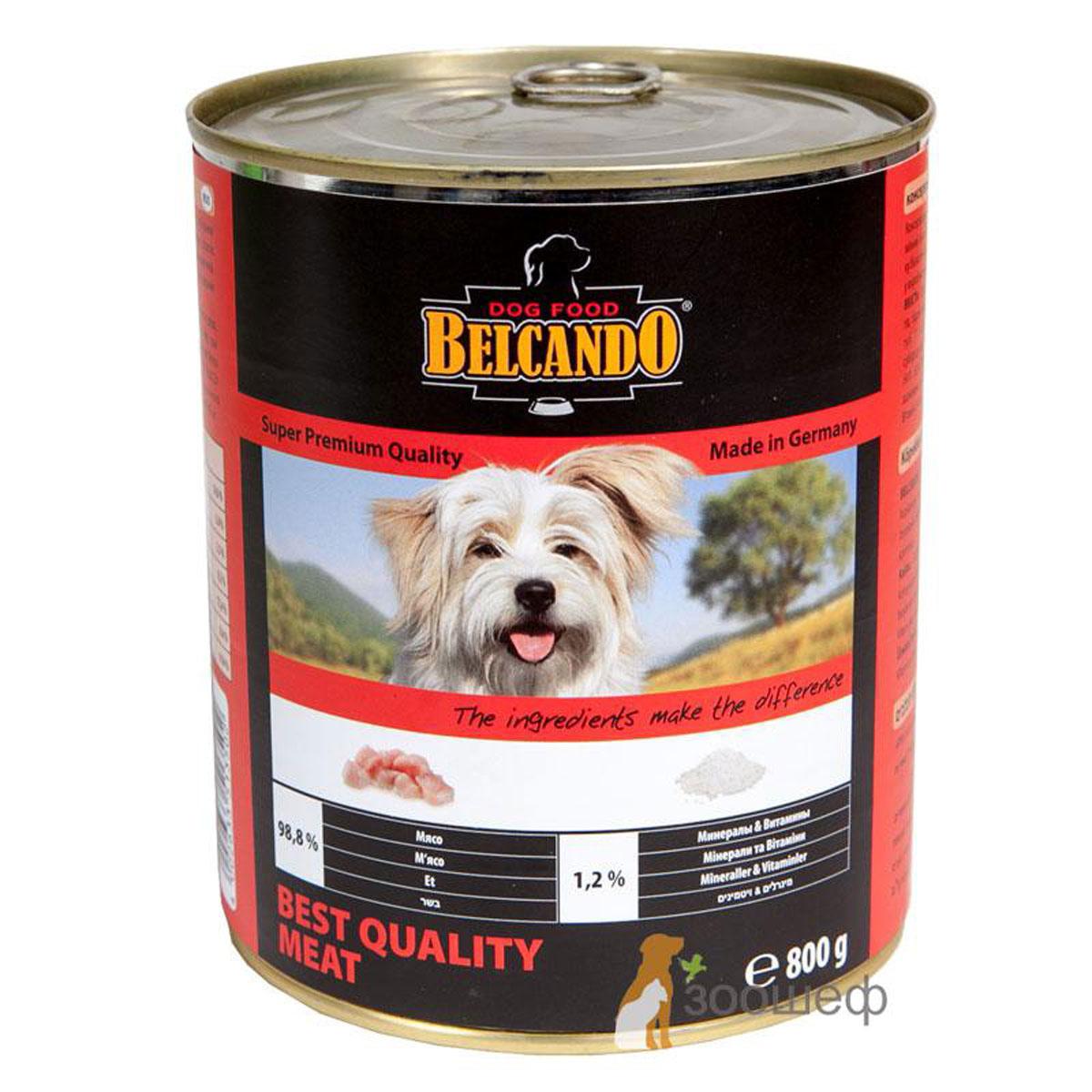 Консервы для собак Belcando, с отборным мясом, 800 г13288Консервы Belcando - это полнорационное влажное питание для собак. Подходят для собак всех возрастов. Комбинируется с любым типом корма, в том числе с натуральной пищей. Состав: мясо 98,8%, витамины и минералы 1,2%. Анализ состава: протеин 14 %, жир 5 %, клетчатка 0,2 %, зола 2,5 %, влажность 75,4 %, витамин А 2,500 МЕ/кг, витамин Е 40 мг/кг, витамин D3 250 МЕ/кг, кальций 0,4 %, фосфор 0,16 %. Вес: 800 г. Товар сертифицирован.