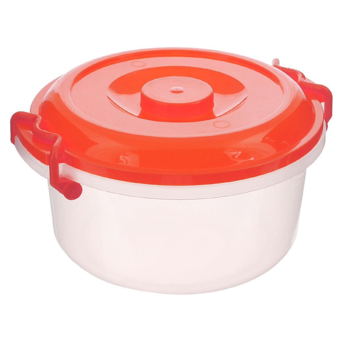 Контейнер Альтернатива, цвет: красный, прозрачный, 5 лМ097_красныйКонтейнер Альтернатива изготовлен из высококачественного пищевого пластика. Изделие оснащено крышкой и ручками, которые плотно закрывают контейнер. Также на крышке имеется ручка для удобной переноски. Емкость предназначена для хранения различных бытовых вещей и продуктов. Такой контейнер очень функционален и всегда пригодится на кухне. Диаметр контейнера (без учета крышки): 25 см. Высота стенок: 13,5 см. Объем: 5 л.