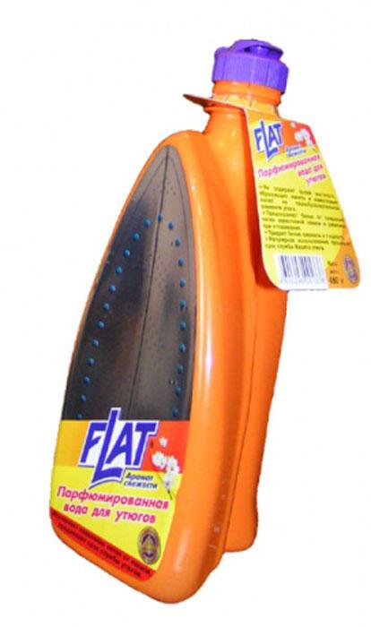 Вода парфюмированная Flat для утюгов, аромат свежести, 480 г4600296001376Парфюмированная вода для утюгов Flat не содержит солей жесткости, образующих накипь и известковый налет на парообразовательном элементе утюга. Предохраняет белье от появления пятен известковой накипи и ржавчины при отпаривании. Предает белью свежесть и гладкость. Регулярное использование продлевает срок службы вашего утюга.