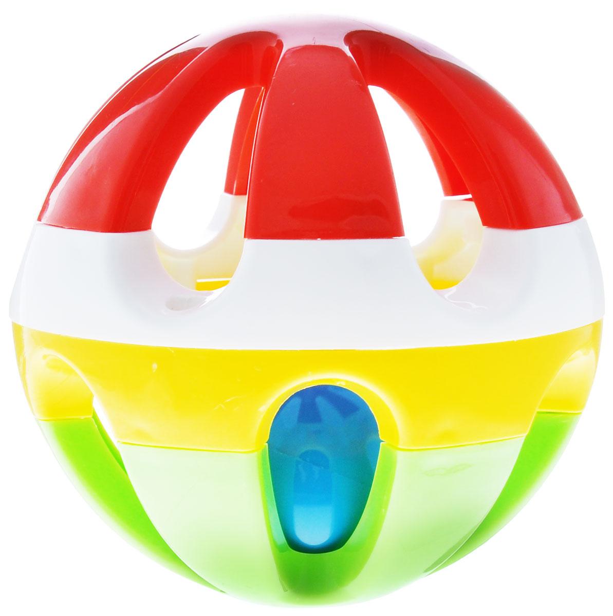 Stellar Погремушка Шар цвет красный желтый зеленый1506_красный, желтый, зеленыйПогремушка Stellar Шар создана специально для самых маленьких. Игрушка выполнена из яркого материала в виде шара с прорезями, внутри которого находится маленький шарик с гремящими при тряске гранулами. Игра предназначена для детей с первых дней жизни. Вначале ребенок будет смотреть за движущимся шаром, а позже научится держать в руках погремушку и извлекать из нее звук. Игрушка способствует развитию мелкой моторики рук, а яркие цвета развивают зрительное восприятие ребенка.