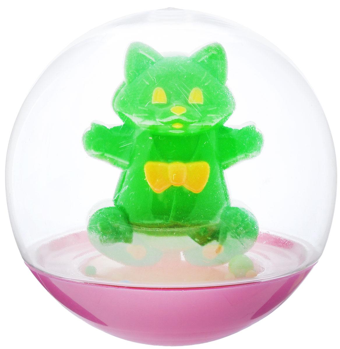 Stellar Погремушка-неваляшка Кот цвет зеленый1_зеленыйПогремушка-неваляшка Stellar Кот не позволит скучать вашему малышу на улице, дома и во время водных процедур. Игрушка выполнена из безопасного и прочного материала в виде симпатичного кота в прозрачном круглом шаре. Неваляшка забавно покачивается под приятный звук погремушки, развлекая малыша. Неваляшка развивает мелкую моторику, координацию, слух и цветовое восприятие.