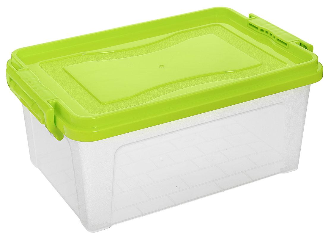 Контейнер для хранения Idea, цвет: прозрачный, салатовый, 5,3 лМ 2864_прозрачный, салатовыйКонтейнер для хранения Idea выполнен из высококачественного пластика. Контейнер снабжен двумя пластиковыми фиксаторами по бокам, придающими дополнительную надежность закрывания крышки. Вместительный контейнер позволит сохранить различные нужные вещи в порядке, а герметичная крышка предотвратит случайное открывание, защитит содержимое от пыли и грязи.