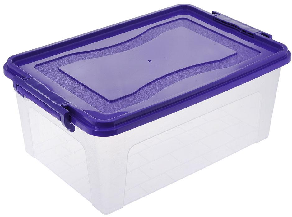 Контейнер для хранения Idea, цвет: прозрачный, фиолетовый, 5,3 лМ 2864Контейнер для хранения Idea выполнен из высококачественного пластика. Контейнер снабжен двумя пластиковыми фиксаторами по бокам, придающими дополнительную надежность закрывания крышки. Вместительный контейнер позволит сохранить различные нужные вещи в порядке, а герметичная крышка предотвратит случайное открывание, защитит содержимое от пыли и грязи.