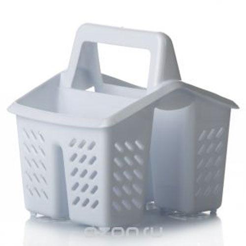 Подставка для столовых приборов Dunya Plastik, цвет: белый. 1400714007Подставка для столовых приборов Dunya Plastik, изготовленная из высококачественного прочного пластика, оснащена 4 секциями для различных столовых приборов. Дно и стенки имеют перфорацию для легкого стока жидкости. Изделие снабжено удобной ручкой. Подставка для столовых приборов Dunya Plastik поможет аккуратно рассортировать все столовые приборы и тем самым поддерживать порядок на кухне.