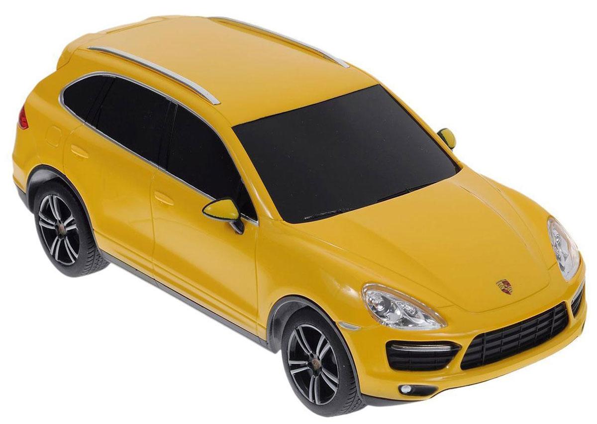 Rastar Радиоуправляемая модель Porsche Cayenne Turbo цвет желтый масштаб 1:2446100желтыйОписание GK Racer Series Porsche Cayenne Turbo 1:24 866-2415 Радиоуправляемая модель автомобиля GK Racer Series Porsche Cayenne Turbo повторяет настоящий автомобиль в масштабе 1:24. Модель движется назад, вперед, влево, вправо. Управлять ею легко и приятно, любая гонка принесет удовольствие.
