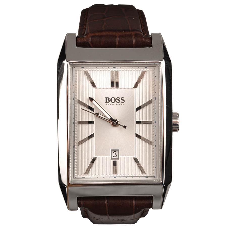 Часы наручные мужские Hugo Boss, цвет: стальной, коричневый. HB-153-28HB-153-28Стильные мужские часы Hugo Boss WATCHES выполнены из нержавеющей стали, минерального стекла и натуральной кожи. Циферблат изделия оформлен символикой бренда. Часы оснащены полированным ударостойким корпусом, устойчивым к царапинам минеральным стеклом, индикатором даты, а также степенью влагозащиты 3 atm. Изделие дополнено ремнем из натуральной кожи с тиснением под рептилию и пряжкой, которая позволит максимально комфортно и быстро снимать и одевать часы. Изделие поставляется в фирменной упаковке. Часы Hugo Boss WATCHES подчеркнут мужской характер и отменное чувство стиля у их обладателя.