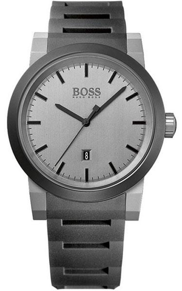 Часы наручные мужские Hugo Boss, цвет: серый, антрацитовый. HB-153-23HB-153-23Стильные мужские часы Hugo Boss WATCHES выполнены из нержавеющей стали, минерального стекла и силикона. Циферблат изделия оформлен символикой бренда. Часы оснащены полированным ударостойким корпусом, устойчивым к царапинам минеральным стеклом, индикатором даты, а также степенью влагозащиты 5 atm. Часы дополнены силиконовым ремнем с пряжкой, которая позволит максимально комфортно и быстро снимать и одевать часы. Изделие поставляется в фирменной упаковке. Часы Hugo Boss WATCHES подчеркнут мужской характер и отменное чувство стиля у их обладателя.