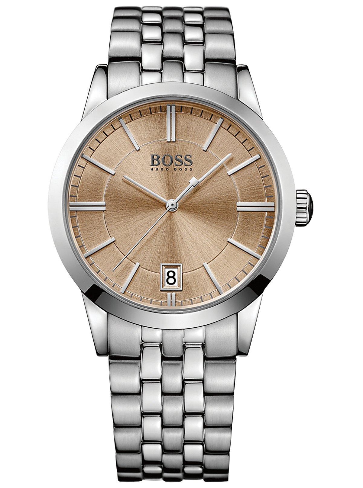 Часы наручные мужские Hugo Boss, цвет: стальной, бежевый. HB-153-06HB-153-06