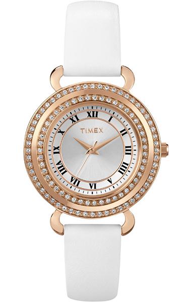 Часы наручные женские Timex, цвет: фиолетовый. T2P230T2P230Водозащита 3 АТМ; Механизм кварцевый; Корпус стальной; Браслет кожаный; Стекло минеральное; Размер корпуса 33 мм; Часы наручные