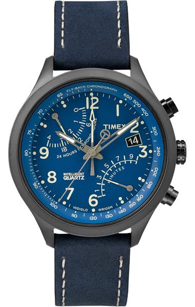 Часы наручные мужские Timex, цвет: синий. T2P380T2P380Стильные мужские часы Timex изготовлены из нержавеющей стали, натуральной кожи и минерального стекла. Циферблат часов оформлен символикой бренда. Корпус изделия оснащен кварцевым механизмом, который имеет степень влагозащиты равную 10 Bar, дополнен устойчивым к царапинам минеральным стеклом, функцией хронографа и индикатором даты. На стрелки часов нанесен светящийся состав. Ремешок оснащен классической пряжкой, которая позволит с легкостью снимать и надевать изделие. Часы поставляются в фирменной упаковке. Часы Timex подчеркнут мужской характер и отменное чувство стиля у их обладателя.