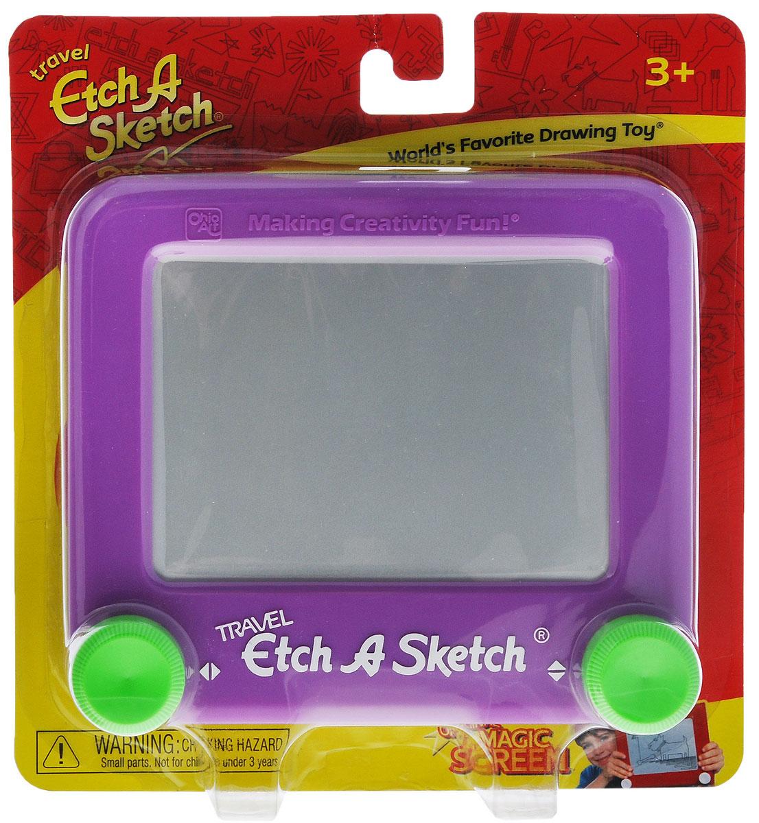 """Etch-A-Sketch Игрушка развивающая """"Волшебный экран"""", 13 см, цвет: фиолетовый ( 55590 )"""