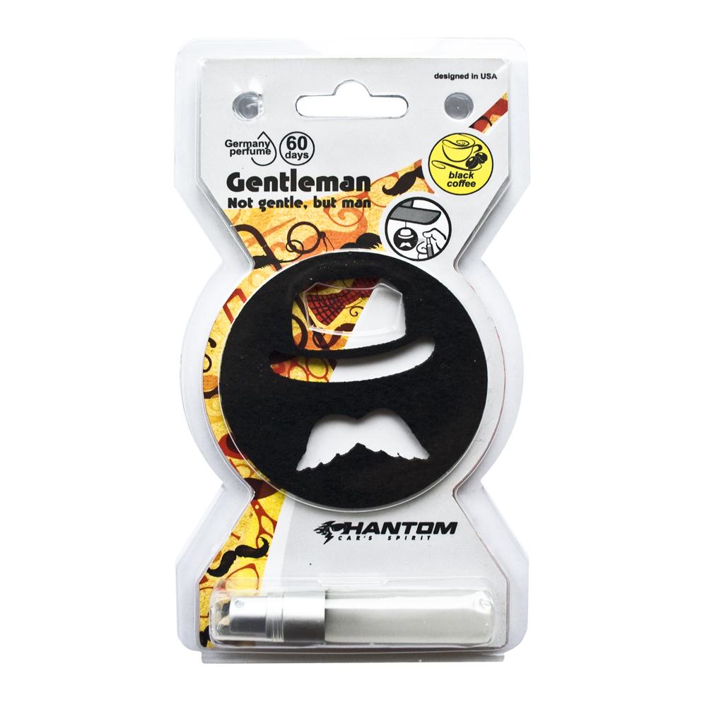Ароматизатор Phantom Gentleman, черный кофе3350• Ароматическая основа: жидкость • Материал: войлок • Немецкая парфюмерия • Срок действия ароматизатора: 50 дней • Возможность регулировать интенсивность запаха • Упаковка: двойной блистер, препятствует выветриванию запаха во время хранения Синтетический войлок, ароматическая отдушка