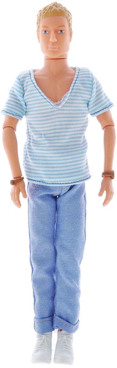 Simba Кукла Casual Kevin5738032_блондин, голубая полоскаКукла Simba Casual Kevin непременно приведет в восторг вашу малышку и обязательно станет ее любимой игрушкой. Брюнет Кевин одет в модный наряд в стиле casual - полосатую футболку и розовые джинсы, а на ногах у него - белые кроссовки. Руки, ноги и голова куклы подвижны, поэтому ей можно придавать любые позы. Благодаря играм с куклой, ваша малышка сможет развить фантазию и любознательность, овладеть навыками общения и научиться ответственности.