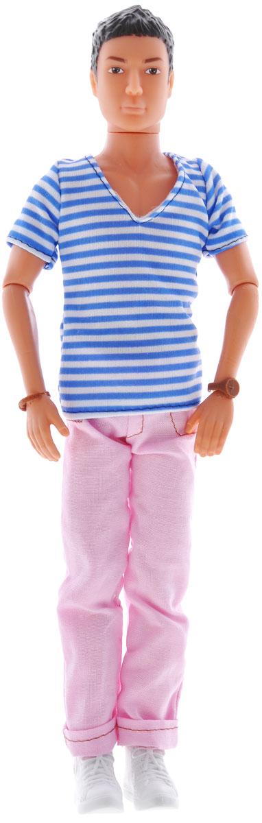 Simba Кукла Steffi Love Casual Kevin цвет одежды розовый белый синий5738032, брюнет, розовые штаны и полосатая футболкаКукла Simba Casual Kevin непременно приведет в восторг вашу малышку и обязательно станет ее любимой игрушкой. Брюнет Кевин одет в модный наряд в стиле casual - полосатую футболку и розовые джинсы, а на ногах у него - белые кроссовки. Руки, ноги и голова куклы подвижны, поэтому ей можно придавать любые позы. Благодаря играм с куклой, ваша малышка сможет развить фантазию и любознательность, овладеть навыками общения и научиться ответственности.