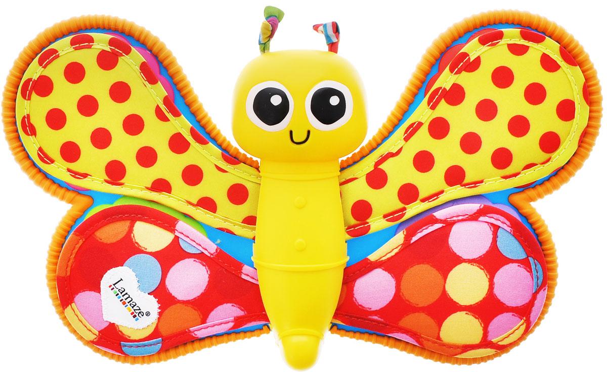 Lamaze Развивающая игрушка Фотоальбом Смотри и СлушайLC27240RUФотоальбом Смотри и Слушай - это первый фотоальбом для малышей в возрасте от 6 месяцев. Он выполнен в виде очаровательной большой игрушки-бабочки с мягкими крыльями, приподняв верхний слой которых, ребенок увидит фотографии в ярких рамочках. Фотоальбом для четырех фотографий. Фотографии защищены защитной пленкой от грязи. Фотоальбом с функцией голосового сообщения обязательно понравится вашему малышу. Сочетание сочных цветов и разнообразных фактур в оформлении непременно понравится каждому крохе. Игра с альбомом надолго увлечет вашего малыша, развивая мелкую моторику, тактильные ощущения, зрительно-моторную координацию и воображение. Работает от 3-х батареек ААА (входят в комплект).