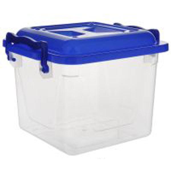 Контейнер Альтернатива, цвет: синий, прозрачный, 4 лМ1021Контейнер Альтернатива выполнен из прочного пластика. Он предназначен для хранения различных бытовых вещей и продуктов. Контейнер оснащен по бокам ручками, которые плотно закрывают крышку контейнера. Контейнер поможет хранить все в одном месте, он защитит вещи от пыли, грязи и влаги.
