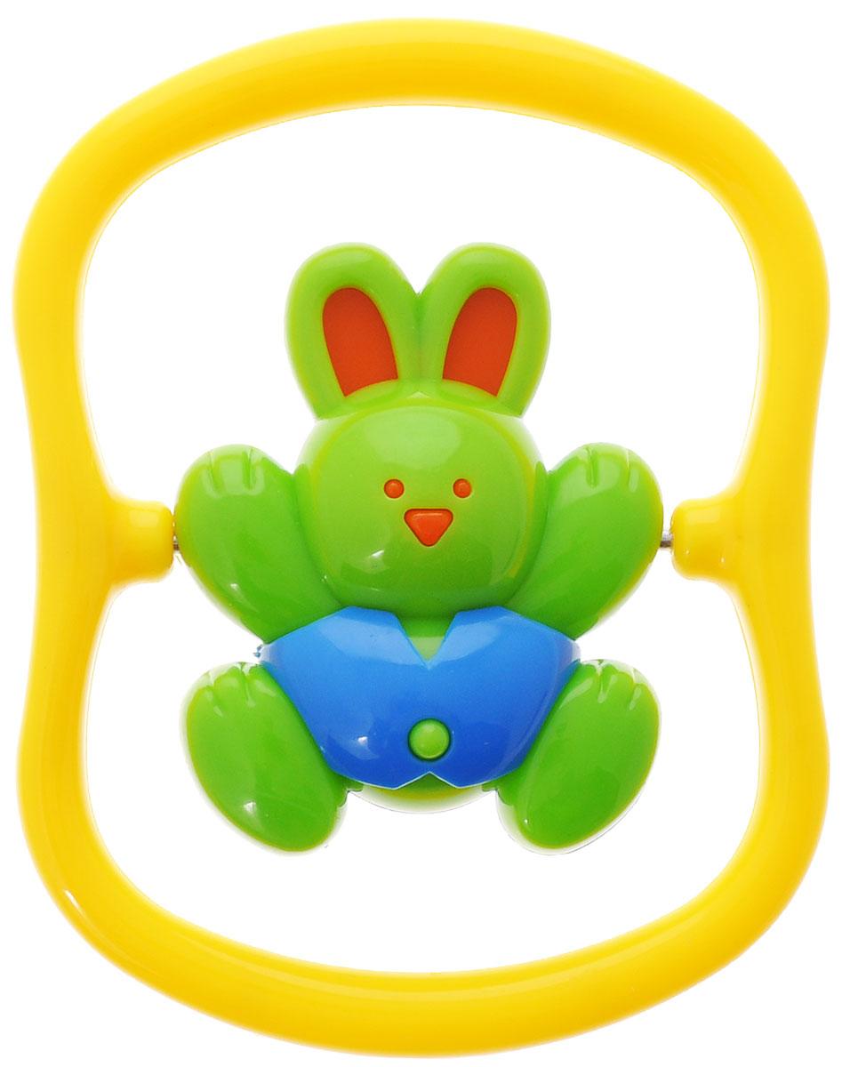 Игрушка-погремушка Малышарики Зайка на качелях, цвет: зеленый, желтыйMSH0302-011С первых месяцев жизни малыш начинает интересоваться яркими, подвижными предметами, ведь они являются его главными помощниками в изучении нашего удивительного мира. Забавная погремушка Зайка на качелях поможет малышу научиться фокусировать внимание. Игрушка развивает мелкую моторику и слуховое восприятие. Выполнена в ярком дизайне и из безопасных материалов. Удобная форма игрушки позволит малышу с легкостью взять и держать ее, а приятный звук погремушки порадует и заинтересует его. Игрушка поможет развить цветовосприятие, тактильные ощущения и мелкую моторику рук ребенка, а элемент погремушки поспособствует развитию слуха.