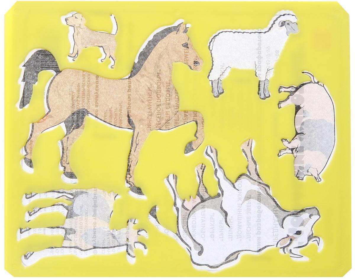 Луч Трафарет прорезной Домашние животные цвет желтый9С 447-08_жёлтыйНарисуй домашних животных и помести их на собственную ферму с трафаретом Домашние животные. Комплект состоит из трафарета и бумажной основы с персонажами, размещенными на трафарете. Трафарет можно использовать для рисования отдельных персонажей и композиций, удобно использовать трафарет для изготовления аппликаций. Трафарет предназначен для развития мелкой моторики и зрительно-двигательной координации, зрительного восприятия и навыков художественной композиции.