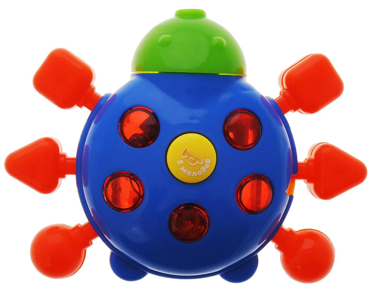 Малышарики развивающая игрушка Божья коровка (свет, звук.эффекты), цвет: синий4680213033079Забавная игрушка поможет малышу научиться фокусировать внимание. Так же она развивает мелкую моторику и слуховое восприятие. Игра станет ещё интересней благодаря световым эффектам. Игрушка выполнена в ярком дизайне и из безопасных материалов.