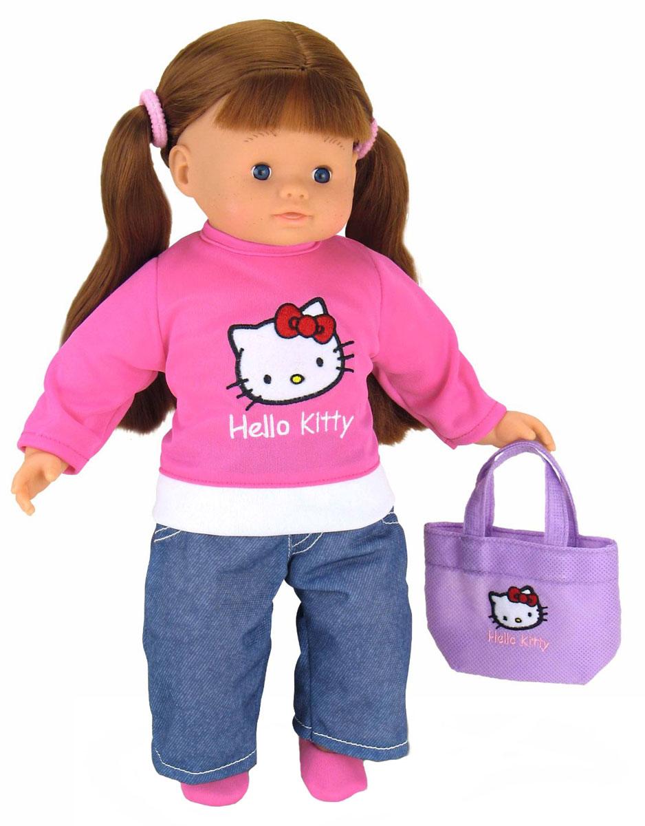 Smoby Кукла Роксана160138Роксана от компании Smoby - очень красивая, стильная куколка из серии Hello Kitty ростом 35 см. Игрушка превосходно развивает воображение и координацию движений ребенка, поможет весело провести время и станет прекрасным развлечением для всей семьи. Голова, ручки и ножки Роксаны выполнены из качественного пластика, а тельце куколки - мягконабивное. Кукла одета в розовую кофточку с аппликацией кошечки Китти и синие штанишки. На голове у Роксаны розовая повязка. Игра с куклой разовьет в вашей малышке фантазию и любознательность, поможет овладеть навыками общения и научит ролевым играм, воспитает чувство ответственности и заботы. Порадуйте ее таким великолепным подарком!