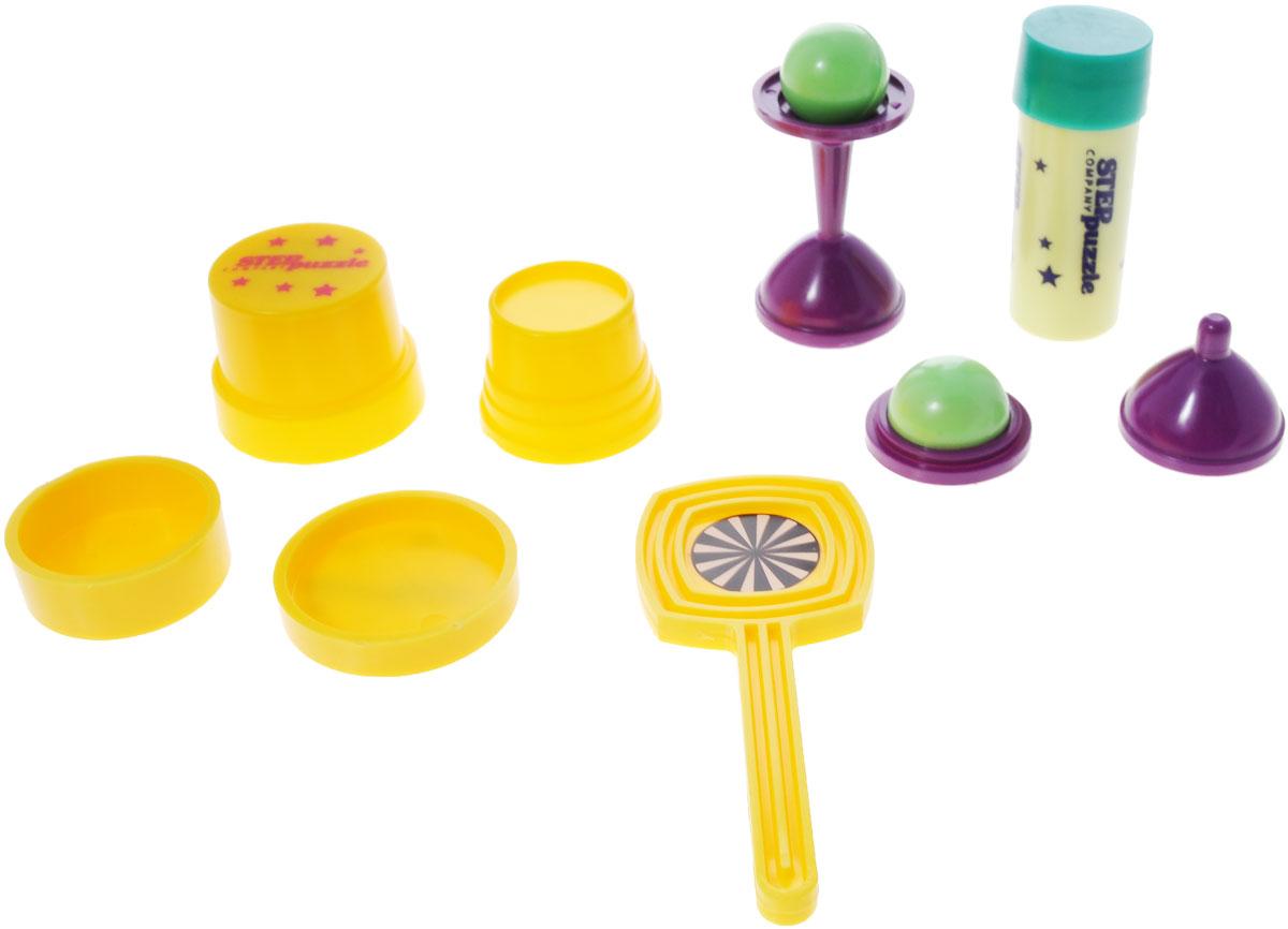 Step Puzzle Набор для фокусов Школа волшебства: 10 фокусов, цвет: синий76077Набор для фокусов Step Puzzle Школа волшебства: 10 фокусов обязательно привлечет внимание вашего юного волшебника. Набор включает в себя все необходимое, чтобы стать настоящим фокусником: магическую коробочку, тросточку для монет, вазочку с шариком, волшебную тубу, секретные колпачки. Необходимый реквизит, позволяющий показать увлекательные и разнообразные фокусы различной степени сложности. Детальное пошаговое руководство с иллюстрациями поможет ребенку научиться фокусам. С данным комплектом ребенок постигнет тайны невероятных и интересных трюков.