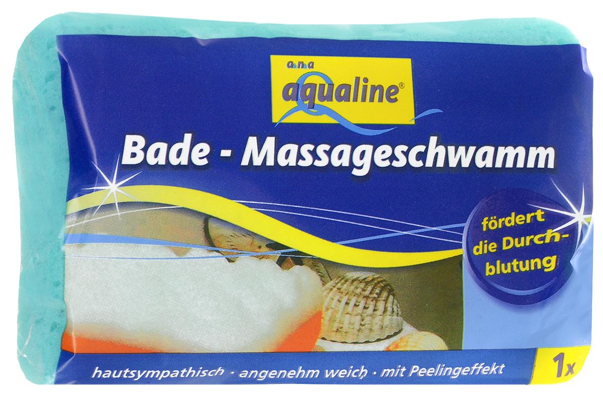 Губка для тела Aqualine, массажная, цвет: бирюзовый, белый, 14,5 см х 9 см х 4,51082_бирюзовый с белымГубка для тела Aqualine изготовлена из мягкого полиуретана с шероховатым массирующим слоем. Идеально очищает и тонизирует кожу во время мытья, улучшая кровообращение и повышая тонус. Пористая структура губки создает воздушную пену даже при небольшом количестве геля для душа. Материал губки: 100% полиуретан. Материал чистящей части: 30% полиамид, 10% полиэстер, 60% связующие вещества.