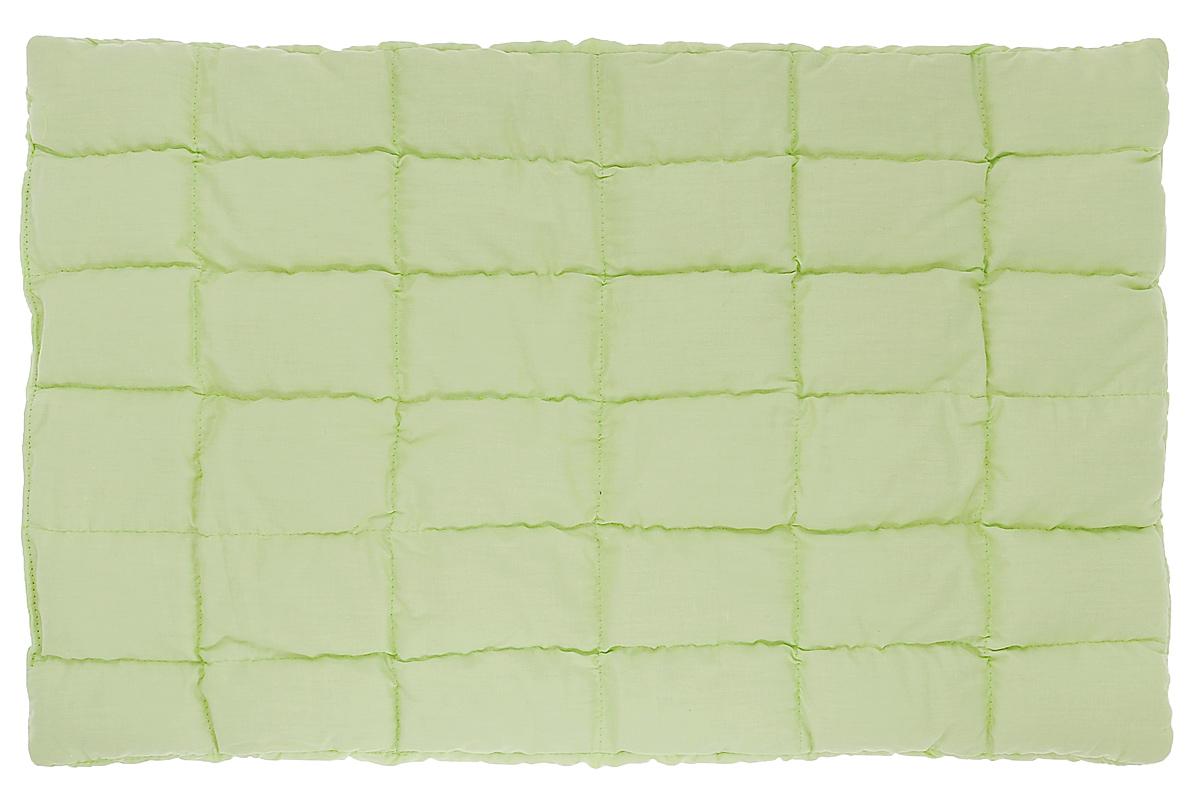 Био-подушка Непотейка из лузги гречихи, цвет: салатовый, 60 см х 35 смPG0067_салатовыйБио-подушка Непотейка создана специально для маленьких детей - от рождения до 2 лет. Сшита она вручную по особой технологии и состоит из хлопка и тонкого слоя лузги гречихи. Педиатры рекомендуют для детей плоские подушки, и мы рекомендуем вам эту био-подушку высотой 2 см. Лузга гречихи обладает мягким массажным эффектом и эффектом кондиционирования, на ней не жарко летом и комфортно зимой - это полностью натуральный природный наполнитель, который равномерно распределен в прошитых квадратах. Непотейка очень удобна, она сшита по ширине детской кроватки и может накрываться пеленкой или простынкой вместе с матрасом. Особенности подушки: Ортопедический эффект; Эффект микро-массажа; Эффект кондиционирования; Гипоаллергенна; Гигиенична; Улучшает кровообращение; Антистатический эффект; Снимает нервное напряжение.