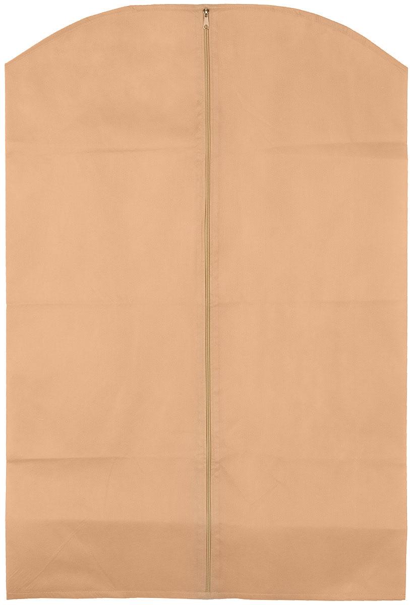 Чехол для одежды Eva, цвет: бежевый, 65 см х 100 см. Е16Е16_бежевыйЧехол для одежды Eva изготовлен из высококачественного нетканого материала. Особое строение полотна создает естественную вентиляцию: материал дышит и позволяет воздуху свободно проникать внутрь чехла, не пропуская пыль. Благодаря форме чехла, одежда не мнется даже при длительном хранении. Застегивается на молнию. Чехол для одежды будет очень полезен при транспортировке вещей на близкие и дальние расстояния, при длительном хранении сезонной одежды, а также при ежедневном хранении вещей из деликатных тканей. Чехол для одежды не только защитит ваши вещи от пыли и влаги, но и поможет доставить одежду на любое мероприятие в идеальном состоянии.