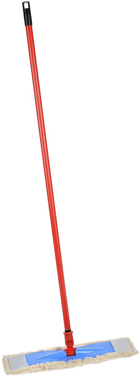 Швабра плоская Konex Евромоп, цвет: красный, голубойkon10066_голубойШвабра Konex Евромоп предназначена для уборки в доме. Плоская насадка, выполненная из хлопка с небольшим ворсом, позволяет быстро и эффективно ухаживать за всеми видами полов и использовать при этом меньшее количество чистящих средств. Швабра оснащена удобной пластиковой ручкой с подвижной частью, которая позволяет использовать ее в труднодоступных местах. На конце ручки имеется специальная петля, благодаря которой швабру можно подвесить в любом удобном месте. Длина ручки: 108 см. Размер насадки: 44 см х 14 см.