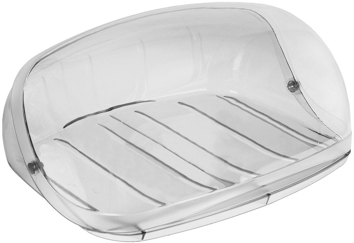 Хлебница Idea Кристалл, цвет: мраморный, прозрачный, 40 х 29 х 16 смМ 1181Хлебница Idea Кристалл, изготовленная из пищевого пластика, обеспечивает идеальные условия хранения для различных видов хлебобулочных изделий, надолго сохраняя их свежесть. Изделие оснащено плотно закрывающейся крышкой, защищающей продукты от воздействия внешних факторов (запахов и влаги). Вместительность, функциональность и стильный дизайн позволят хлебнице стать не только незаменимым аксессуаром на кухне, но и предметом украшения интерьера. В ней хлеб всегда останется свежим и вкусным.