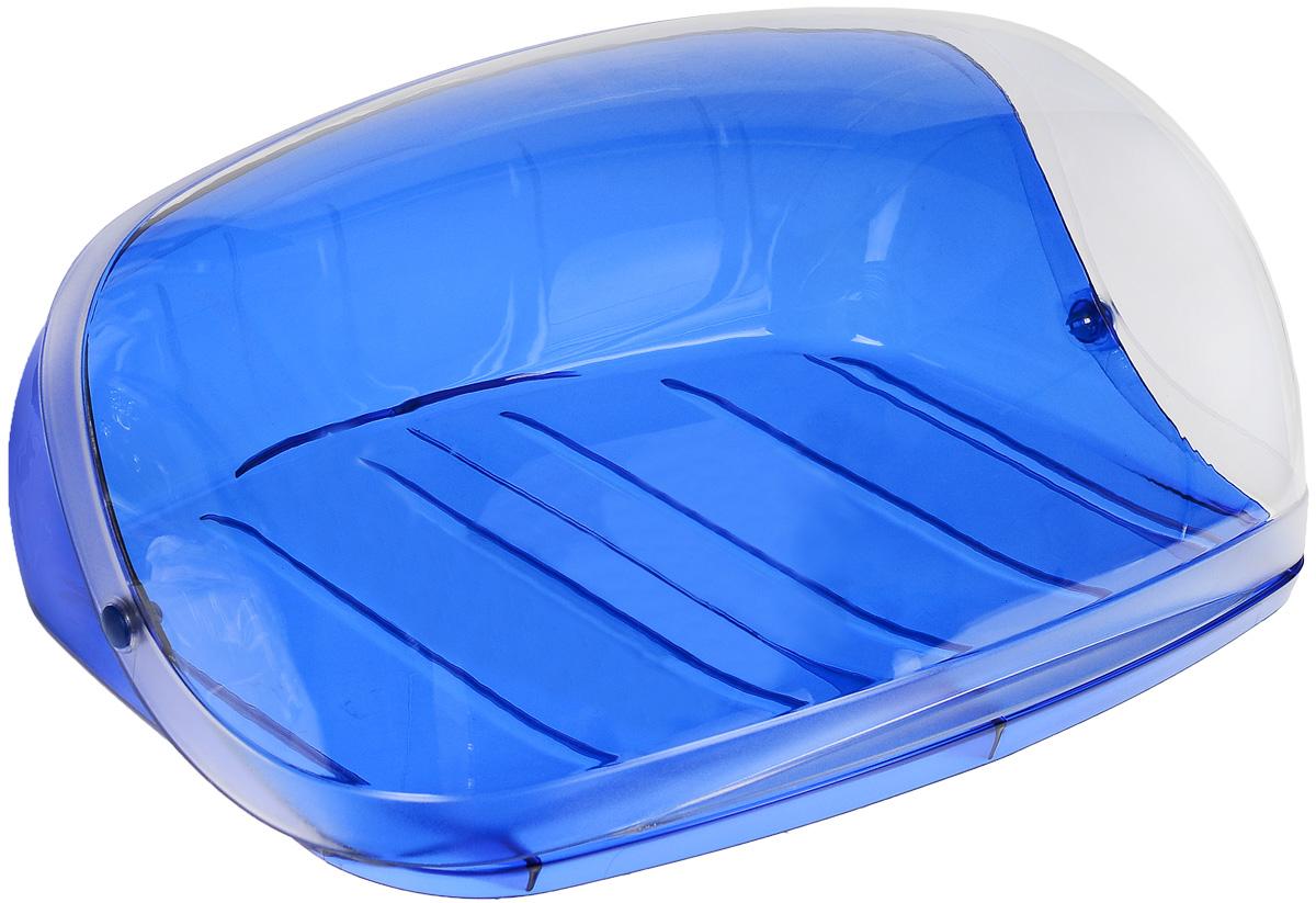 Хлебница Idea Кристалл, цвет: синий, прозрачный, 29 см х 25 см х 15 смМ 1185Хлебница Idea Кристалл, изготовленная из пищевого пластика, обеспечивает идеальные условия хранения для различных видов хлебобулочных изделий, надолго сохраняя их свежесть. Изделие оснащено плотно закрывающейся крышкой, защищающей продукты от воздействия внешних факторов (запахов и влаги). Вместительность, функциональность и стильный дизайн позволят хлебнице стать не только незаменимым аксессуаром на кухне, но и предметом украшения интерьера. В ней хлеб всегда останется свежим и вкусным.