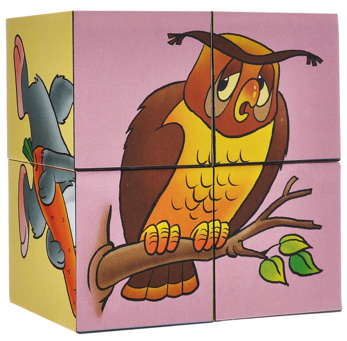 Кубики StepPuzzle Наши друзья, 4 шт87316_наши друзьяКубики StepPuzzle Наши друзья включают в себя 4 кубика, на каждой грани которых расположен элемент рисунка. Составляя кубики, малыш сможет собрать 6 красочных картинок. Кубики выполнены из прочного безопасного пластика. Их грани идеально ровные, малышу непременно понравится держать их в руках, рассматривать и строить из них различные конструкции. А собирание ярких картинок с забавными зверушками поможет малышу развить навыки логического мышления и поможет ему познакомиться с разными цветами и их названиями. Игры с кубиками развивают мелкую моторику рук, цветовое восприятие и пространственное мышление. Ребенку непременно понравится учиться и играть с кубиками, такие игры не только надолго займут внимание малыша, но и помогут ему развить мелкую моторику, пространственное мышление, зрительное и тактильное восприятие, а также воображение и координацию движений.