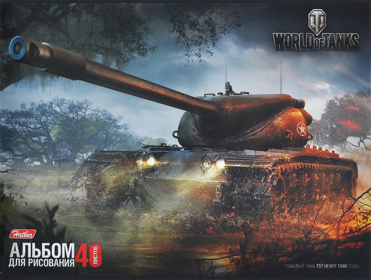 "Hatber Альбом для рисования ""World of Tanks. T57"", 40 листов 40А4B_12188"