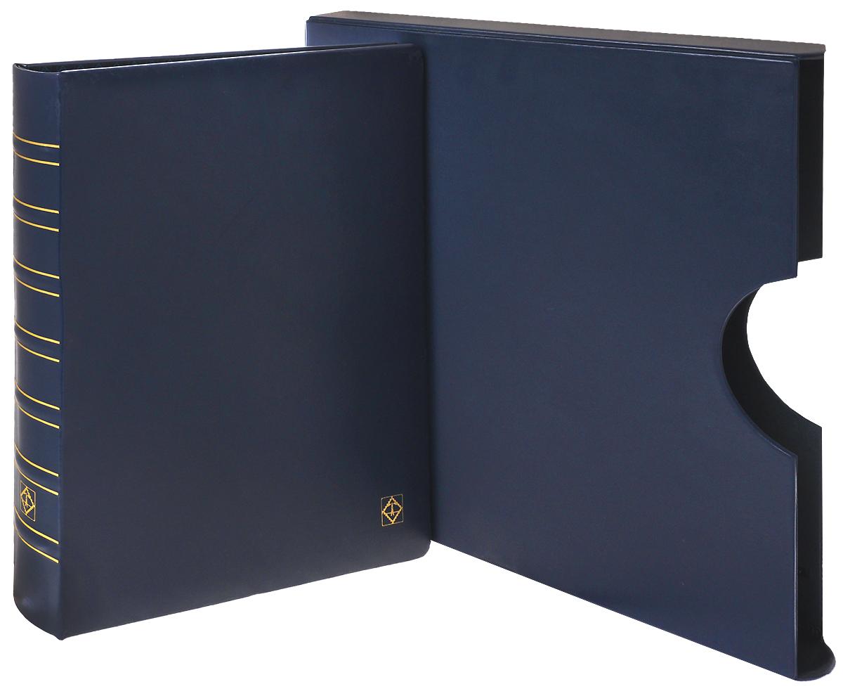 Альбом Folio для банкнот, ценных бумаг, открыток в футляре без листов. Цвет синий. Leuhtturm324006Размер 345 x 397 мм. Материал: искусственная кожа. Стабильная 4-х кольцевая D механика. Вмещает до 30-50 листов системы FOLIO (в зависимости от коллекционного материала). Цвет: синий. Подходит для длительного хранения бон, открыток, конвертов в листах системы FOLIO.